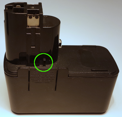 BOSCH 9.6V Replacement Battery [right]