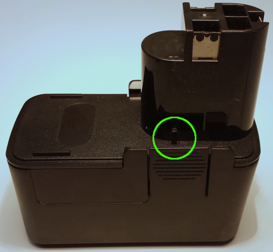 BOSCH 9.6V Replacement Battery [left]