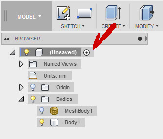 Fusion360 Project Menu Radiobutton